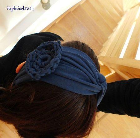 Tuto headband à partir d'un vieux T-Shirt ©Stéphanie bricole