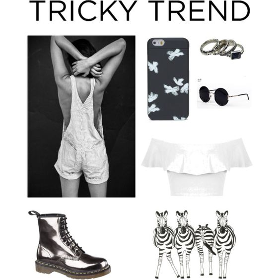 Monocrome by siobhan-couch on Polyvore featuring Miss Selfridge, Dr. Martens, Marc by Marc Jacobs, Una-Home, TrickyTrend, monochrome and DrMartens