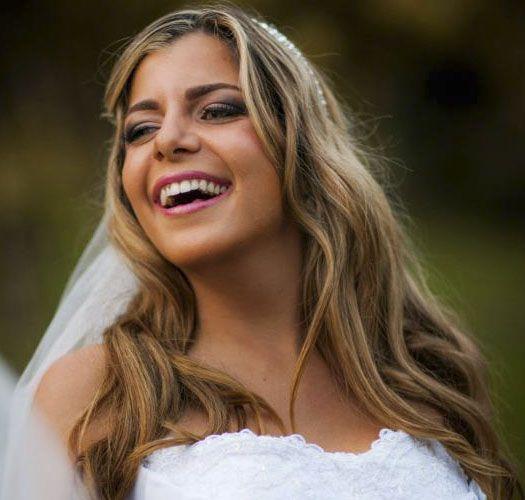 Inspiração maquiagem noiva! Conheça Carolina Couto, a noiva do mês de Abril!