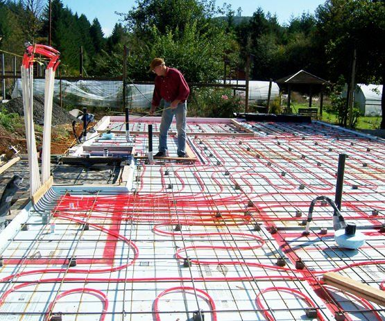 This Is About Installing Hydronic Radiant Floor Heating In A Slab Floor System While It Was Done As A New Radiant Floor Heated Concrete Floor Heating Systems