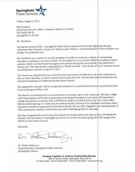 Springfield, IL Public Schools District 186 Proclamations and - registered nurse cover letter template