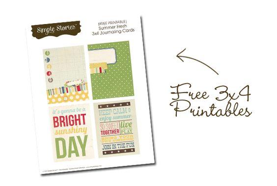 summer fresh 3x4 printables / simple stories.
