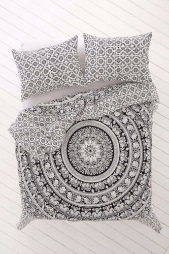Queen-Elefante-Mandala-Hippy-cubierta-ropa-de-cama-Cobertor-India-Hecho-A-Mano-Funda-Nordica