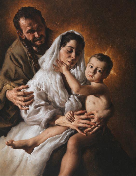 Holy Family / Sagrada Familia / Sacra Famiglia // 2016 // Giovanni Gasparro // Valenzano (BA), Collezione privata © Archivio dell'Arte / Luciano Pedicini