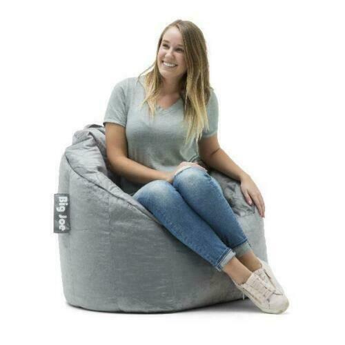 Bean Bag Chair Cozy Relaxing Seat Dorm Bedroom Game Entertainment Lounge Gray 650231980680 Ebay In 2020 Bean Bag Chair Bean Bag Bean Bag Filler