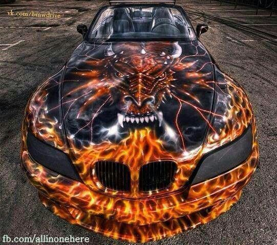 EVERYONE LOVES DRAGONS ON THEIR CARS.