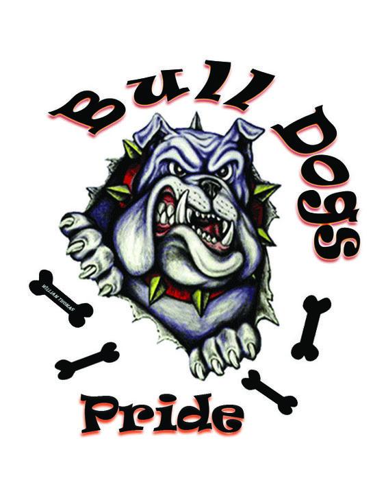 Bulldog Football Tshirt Designs | Bulldog Spirit T-Shirt Design
