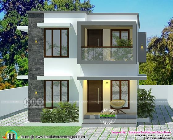Simple Low Cost House In 2 Cents Of Land Area Kerala Home Design Small House Design Exterior Kerala House Design Small House Exteriors