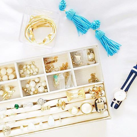 Friday night brights  Love seeing our turquoise tassel earrings in @summerwind41490's gorge jewelry collection!