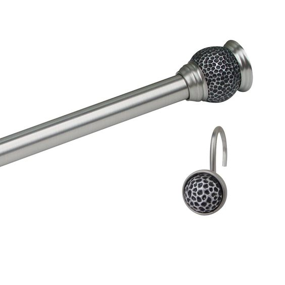 Elegant Home Fashions 9958 Adjustable Shower Curtain Rod with ...