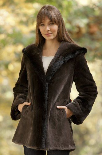Overland Sheepskin Co - Women's Tatiana Sheared Beaver Fur Coat