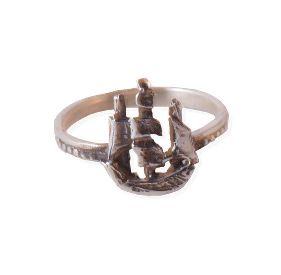 The Scout Ship by Silverella NYC   www.silverella.nyc #shipring #scout #scoutship #shipjewelry #nauticaljewelry #pirateprincess #ring #silverella