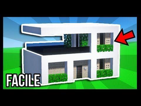 Videotuto Comment Construire Une Maison Moderne Tuto Build Minecraft Build Co Maison Minecraft Maison Moderne Minecraft Construction Maison Moderne
