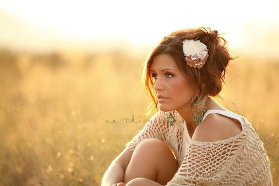 Womens Hair Clip... Womens Headbands... Country Wedding Hair Piece. $18.95, via Etsy.