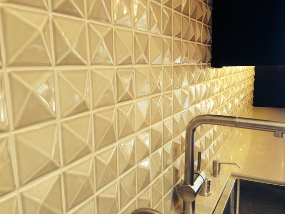 3x3 custom pyramid hand made ceramic gloss finish for Bathroom design 3x3