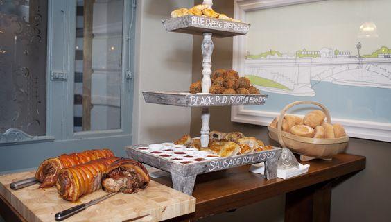 Blue Cheese Pasties, Black Pudding Scotch Eggs, Sausage Rolls & Roast Pork, Duke's Head-youngs.co.uk