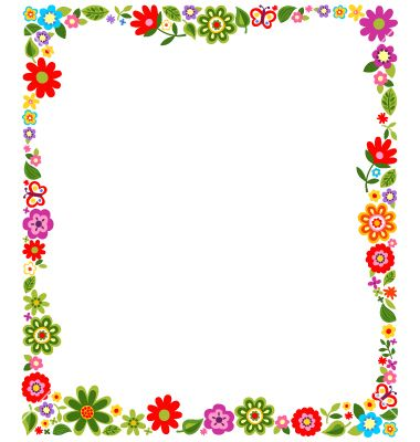Floral border frame background vector 1244785 - by paul_june on ...