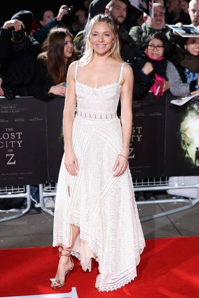 Sienna Miller arrives at 'The Lost City of Z' UK premiere at the British Museum on February 16, 2017 in London, United Kingdom.