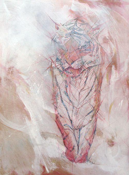 Jason Thielke - Undefeated (2011), acrylic, aerosol, color pencil and graphite on panel