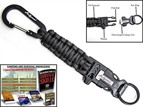 Holtzman S 1 Best Paracord Keychain Carabiner Survival Tool