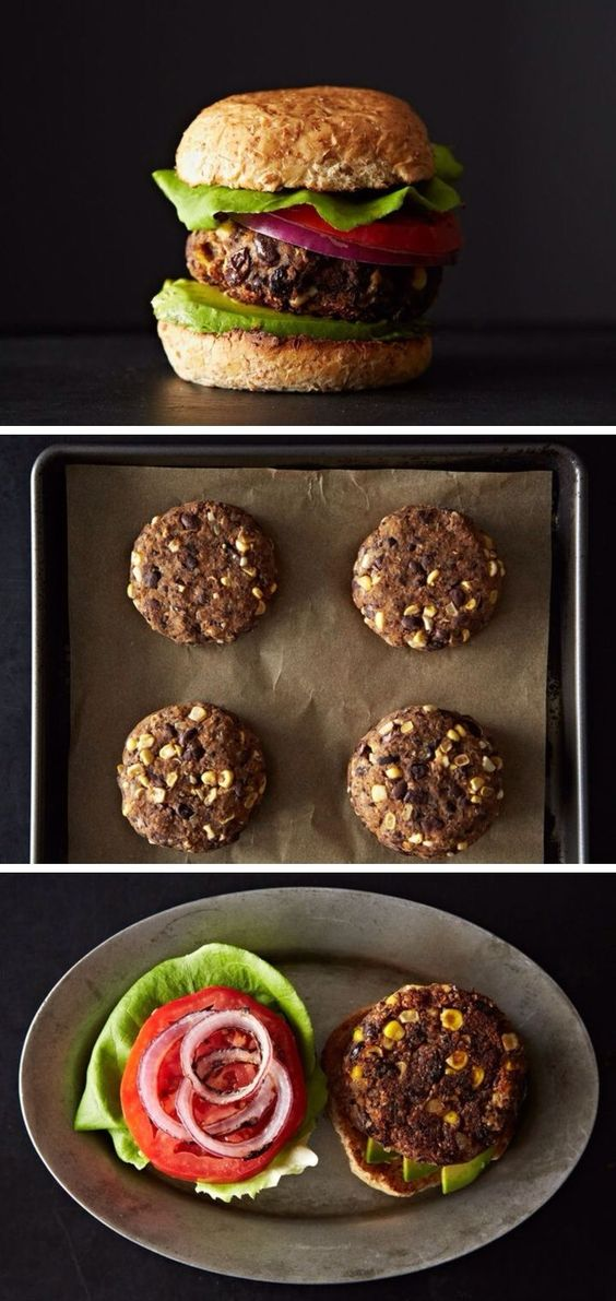Black Bean and Corn Burgers - These veggie burgers are a little bit ...
