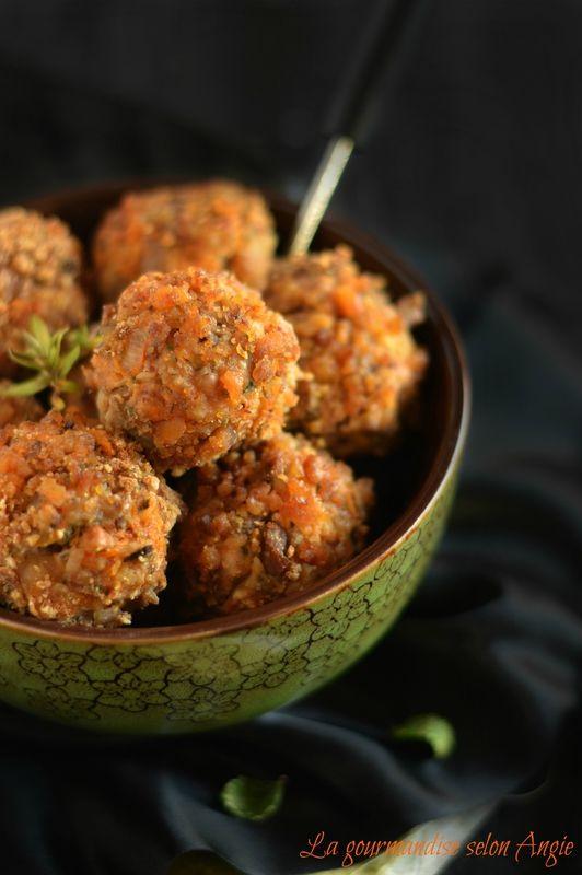 BOULETTES AUTOMNALES - butternut, champignons & châtaignes