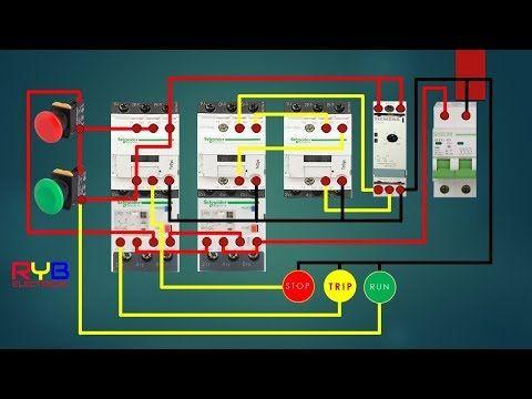 Star Delta Starter Control Circuit Diagram Star Delta Connection Youtube Circuit Diagram Delta Connection Electrical Circuit Diagram