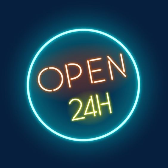 Pin By Christine On Coming Soon Neon Signs Neon Open 24 Hours