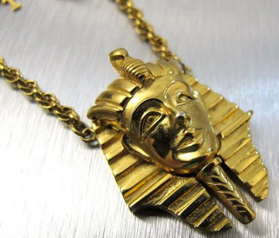 Read More About Vintage Trifari Necklace King Tut Egyptian by TonettesTreasures