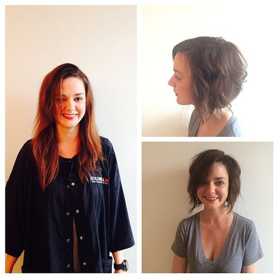 @tracib_tx did an awesome job on @bexntx! #salontrose #hair #bob #Houston #SundayFunday #ReadyForBrunch #brownbob