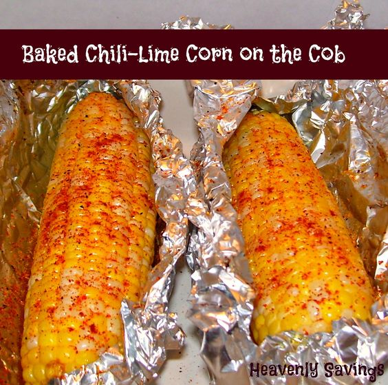 Baked Chili-Lime Corn on the Cob on MyRecipeMagic.com