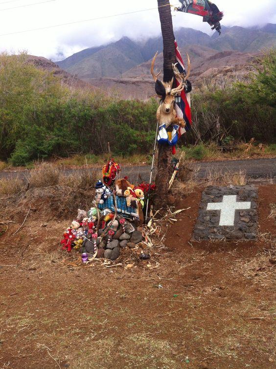 Roadside memorial near Mile Marker 14.: