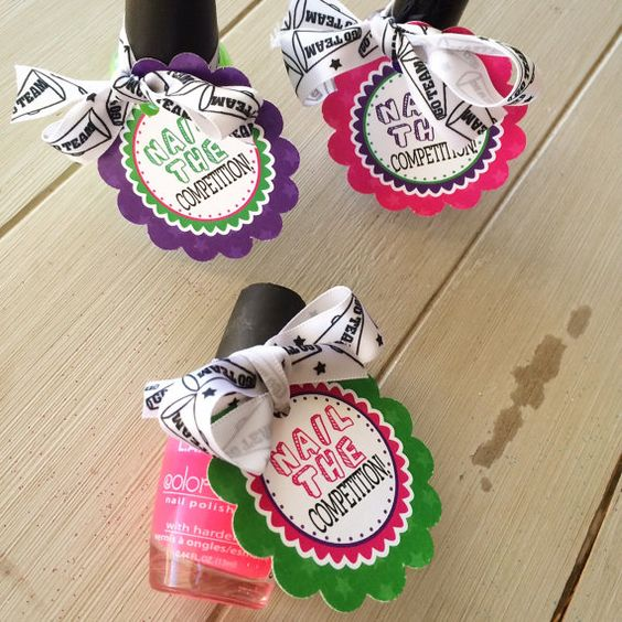 Cheerleading Good Luck Favor Tags- PDF file Instant Download Nail The Competition