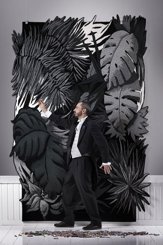 Une photo de l'artiste Julien Colombier pour trois grandes Maisons à Bruxelles: Didden & Co, Costermans et De Greef - Michel Gronemberger Photographe