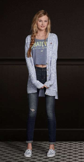 Hollister, Cardigans and Outfit on Pinterest