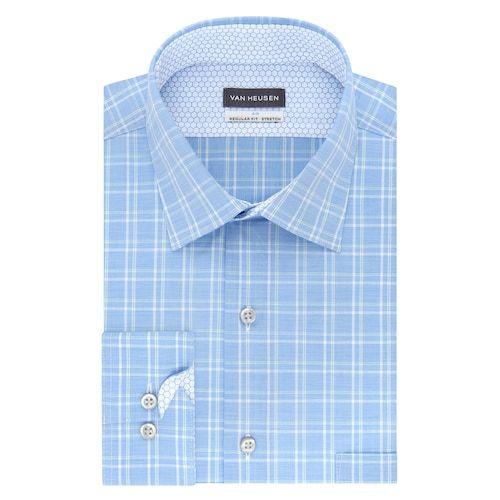 15 32 33 Stretch Dress Shirt Mens Vans Van Heusen