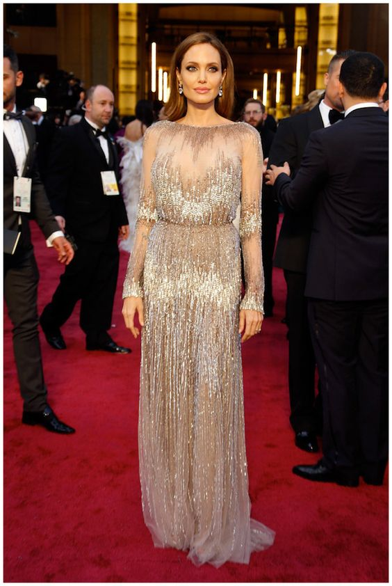 Angelina Jolie in Elie Saab Haute Couture.