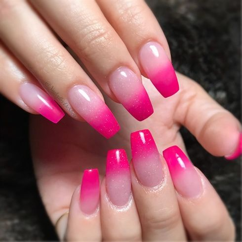 Hot Pink Ombre By Nailedbydeshea From Nail Art Gallery Pink