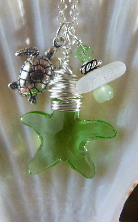 beautiful: Beautiful Necklaces, Crafty Things, Crafts Diy, Craft Ideas, Starfish Necklace, Crafty Ideas