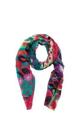 Pañuelo de mujer Desigual modelo Annelise. Nuestros maxipañuelos son lo más: se pueden llevar como pareo, como pashmina, como vestido para la playa, etc. Wow!