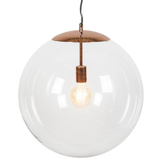 Hanglamp Ball 50 helder koper