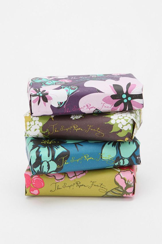 The Soap and Paper Factory Shea Butter Soap - love the packaging on these!