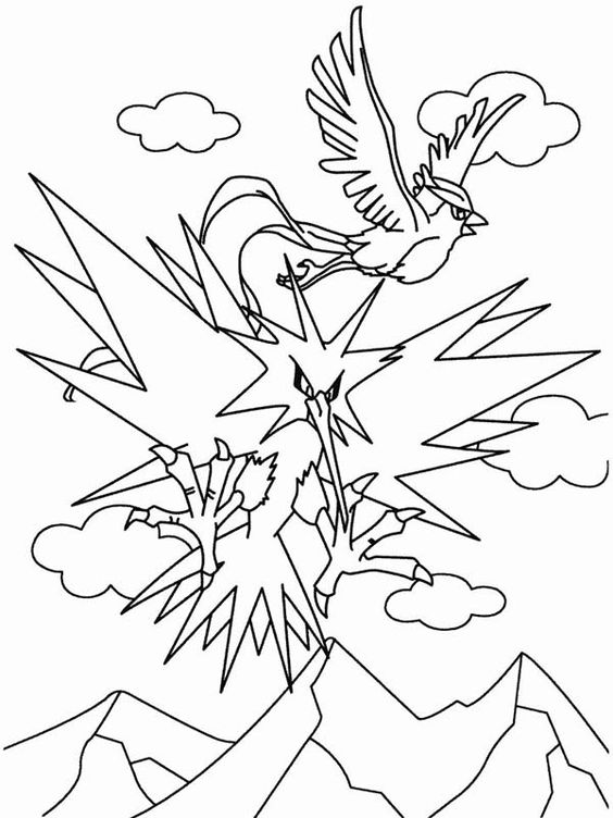 Pokemon Articuno Bird Flying Coloring Page Coloring Sun Pokemon Coloring Pages Coloring Pages Pokemon Coloring