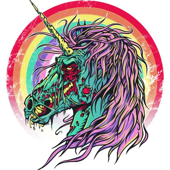 Zombie Unicorn is a T Shirt designed by RicoMambo to illustrate your life and is available at Design By Humans