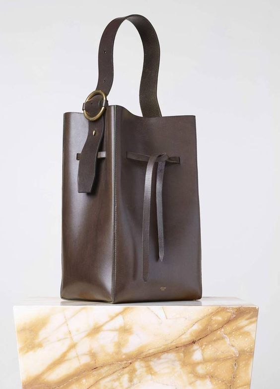 celine purse replica - Seau Side Ring Bag in Vegetal Calfskin - Fall / Winter Collection ...