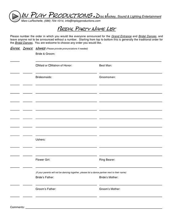 Wedding guest list template - free list templates, Download free - wedding guest list template