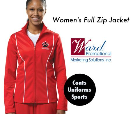 This jacket has a 100% brushed warp knit polyester, moisture wicking, odor resistant, stain release, contrasting white piping, 2 side pockets, open bottom and cuff design. XS, S, M, L, XL, 2XL $27 http://wardpromotional.com/:quicksearch.htm?quicksearchbox=LGJCJ-IBNXT