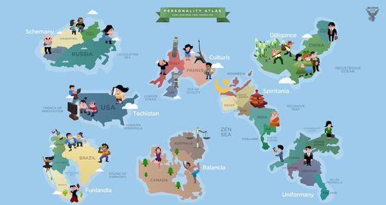 como os países se enxergam