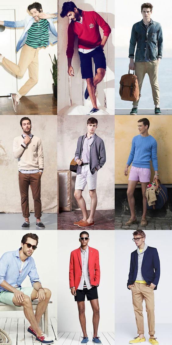 Men's Boat Shoes - Preppy/Collegiate Outfit Inspiration