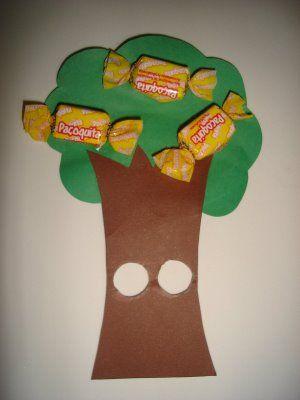 Lembrancinha tipo dedoche - dia da árvore